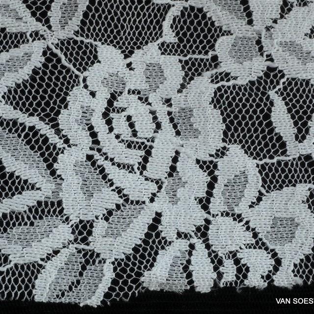 High Stretch Gemini Blumen Spitze in Weiß | Ansicht: High Stretch Gemini Blumen Spitze in Weiß