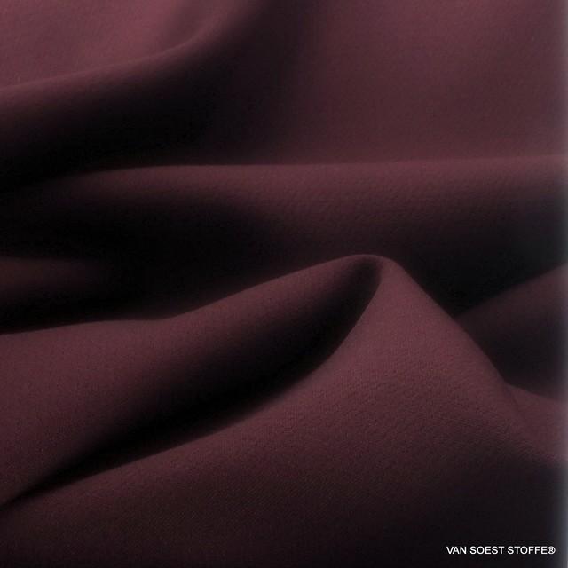 Hochwertiger schwerer Stretch Tuch Stoff in dunkel Burgund