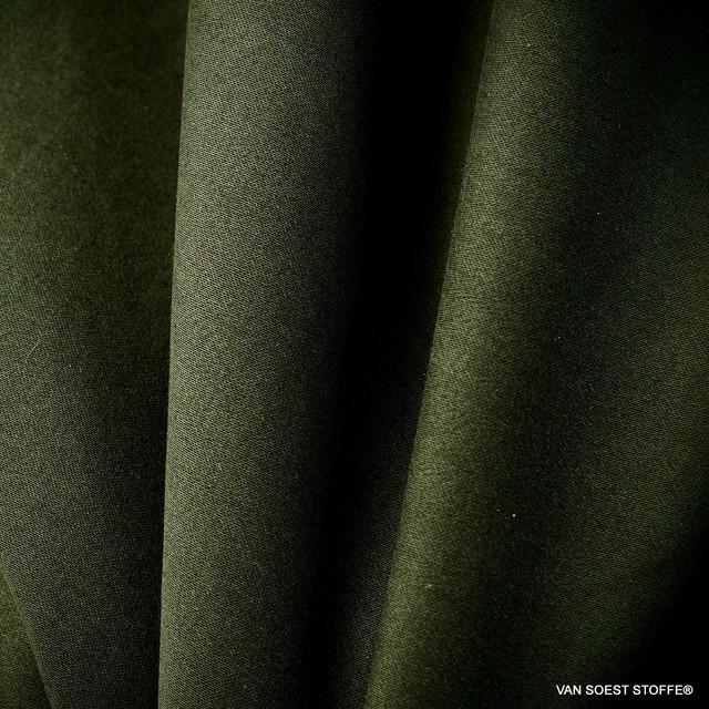 Hochwertiger feiner Stretch TENCEL™ Mischung in dunkel Grün | Ansicht: Stretch TENCEL™ Feinköper Mischung in dunkel Grün