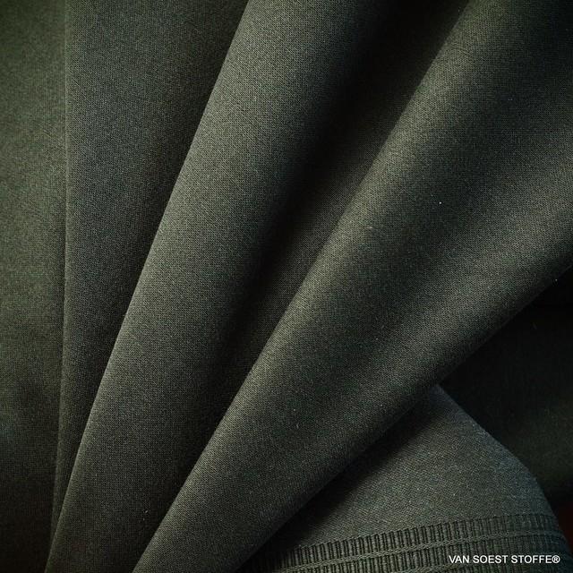 Hochwertiger feiner Stretch TENCEL™ Mischung in dunkel Grün