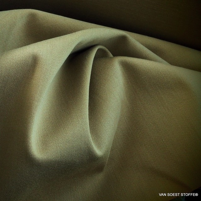 High-quality fine stretch TENCEL™ Steep twill blend in light camel