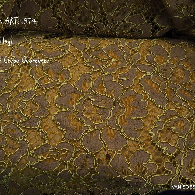 INKA cord lace in honey color