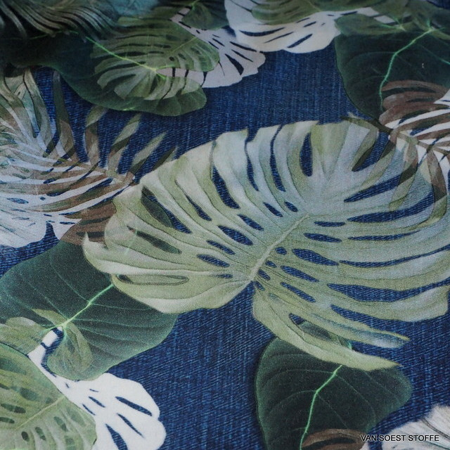 Jeans leaf Design on 100% fine cotton