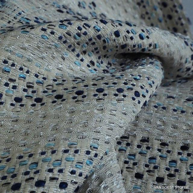 Jeans Tweed mit Silber Fäden durchwebt | Ansicht: Jeans Tweed mit Silber Fäden durchwebt