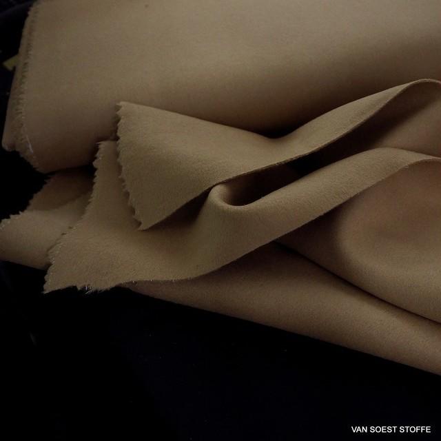 Kamelhaarfarbiger schwerer 100% feiner Woll Stoff   Ansicht: Kamelhaarfarbiger schwerer 100% feiner Woll Stoff