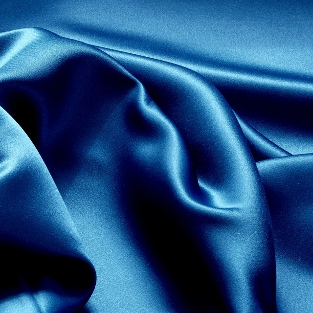 Royal blue colored vintage luxury satin