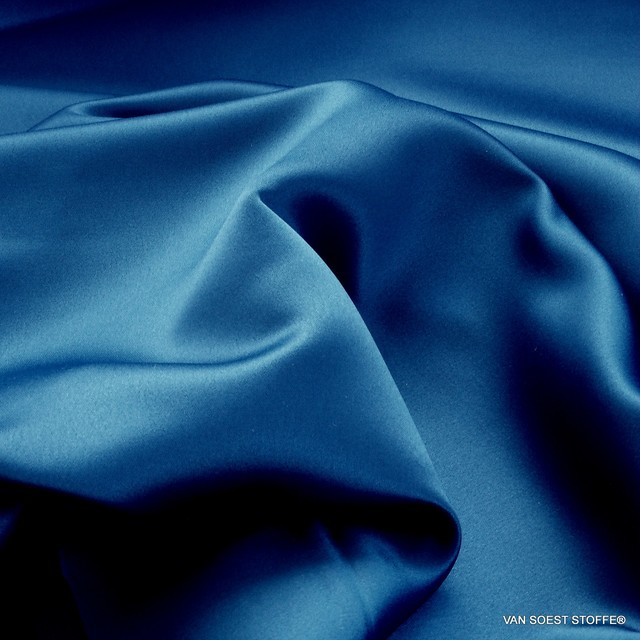 Königsblau farbener Vintage Luxus Satin | Ansicht: Königsblau farbener Vintage Luxus Satin