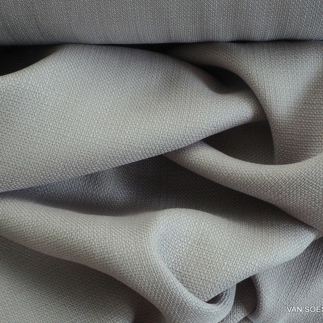 Linen look in 100% TENCEL® in Luna Rock gray