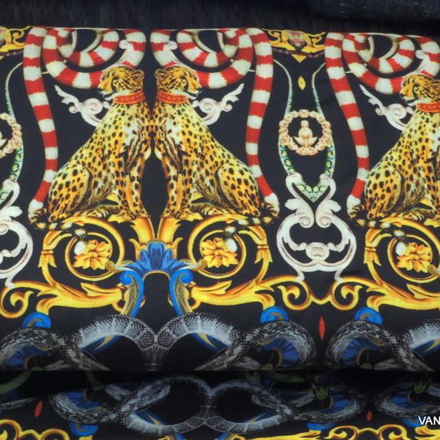 Leopard Druck auf 100% Viskose Musseline | Ansicht: Leopard Druck auf 100% Viskose Museline