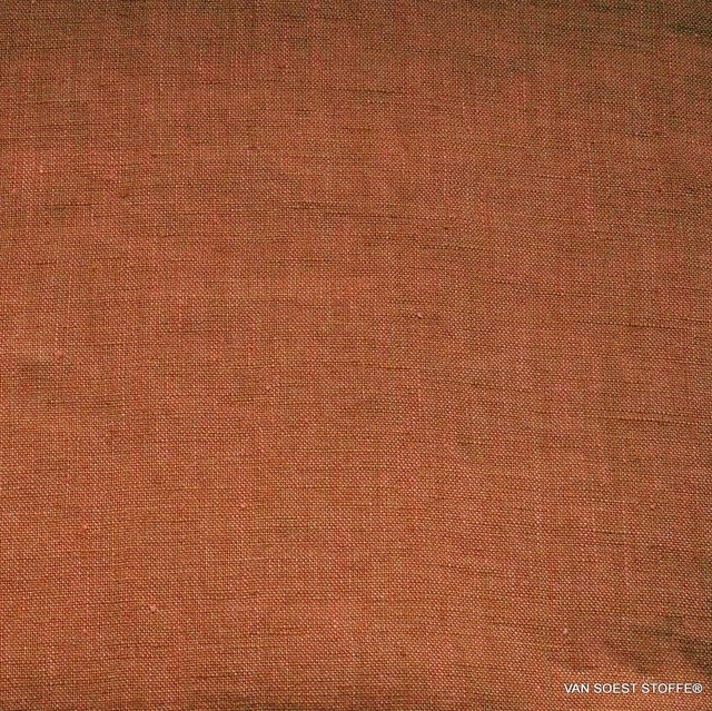 Maiorca 100% linen summery light in an intense orange