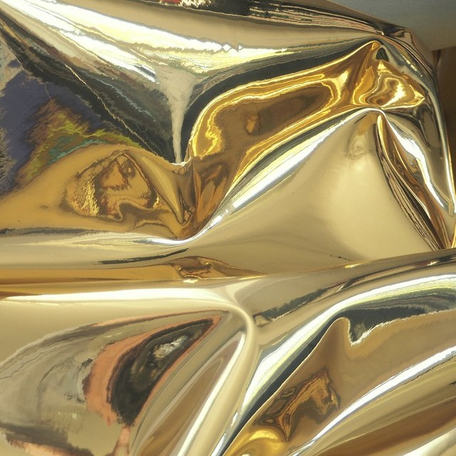 Metallic double fabric in gold | View: Metallic double cloth in gold
