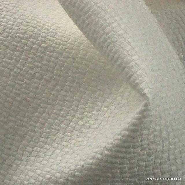 Mini Animal Optik als Stretch Piqué in Creme Weiß