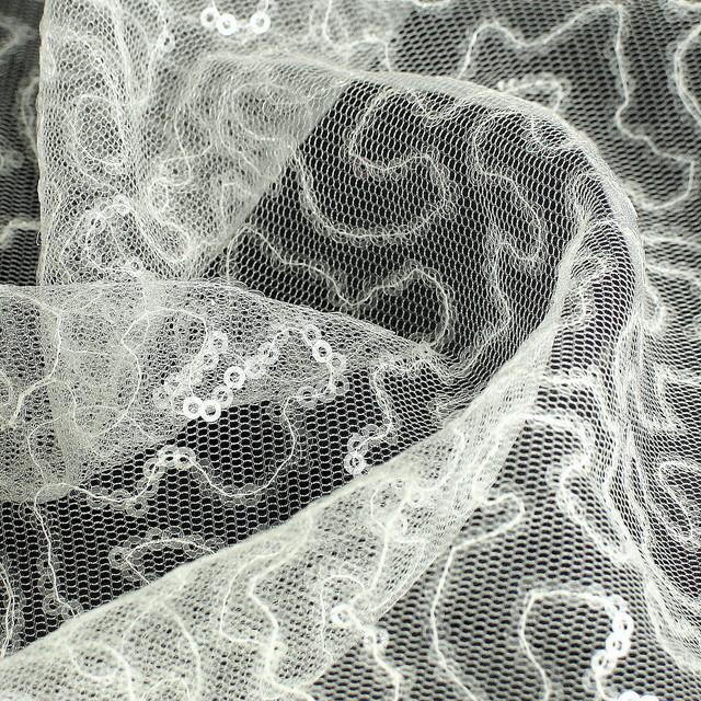 Mini sequin wave in white