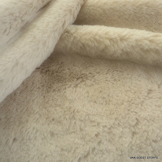 Mink imitation in cream white