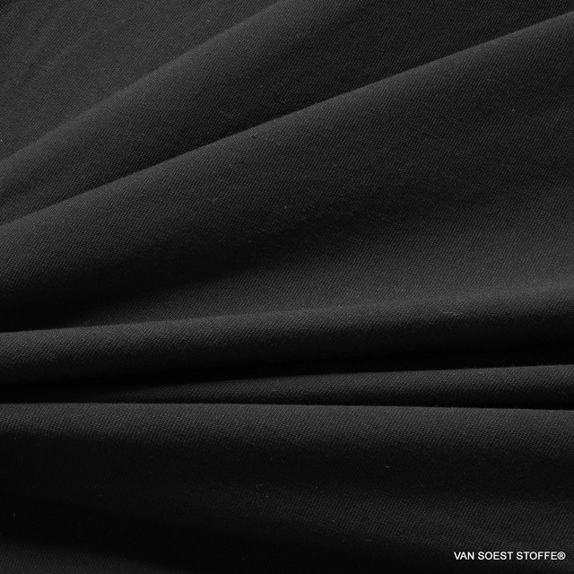 Modal High Stretch Jersey in Black - Sportswear T-Shirts - Underwear Yoga Wellness   Ansicht: Modal High Stretch Jersey in Black - Sportswear T-Shirts - Underwear Yoga Wellness