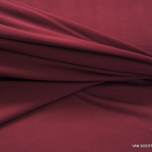 Modal™ Piqué Jersey Mischung in tief Burgund