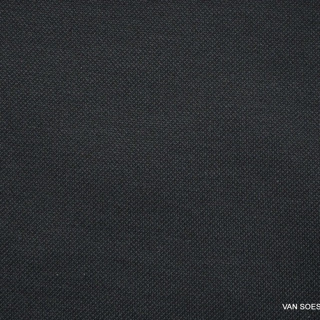 Modal™ piqué jersey blend in deep black | View: Modal™ piqué jersey blend in deep black
