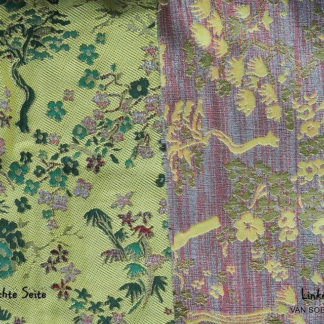 Modischer original China Jacquard in Gelb - Grün | Ansicht: Modischer original China Jacquard in Gelb - Grün
