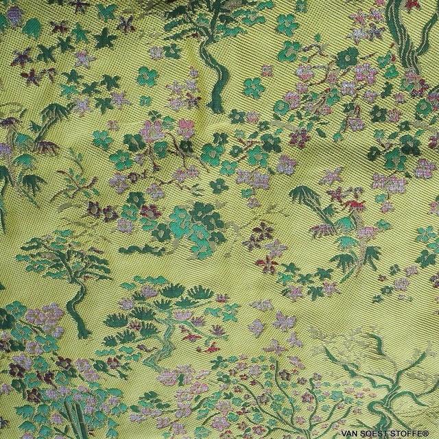 Modischer original China Jacquard in Gelb - Grün | Ansicht: 2063 - Modischer original China Jacquard in Gelb - Grün
