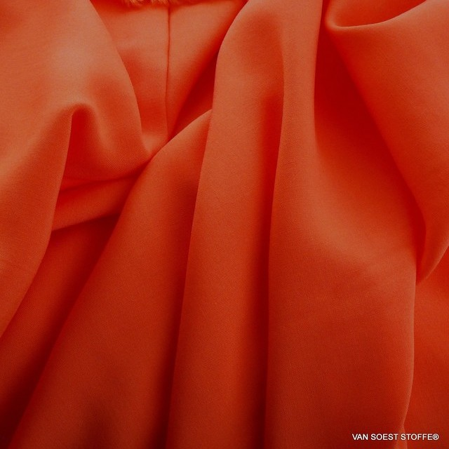 Orange farbiges 100% Viskose soft Poplin