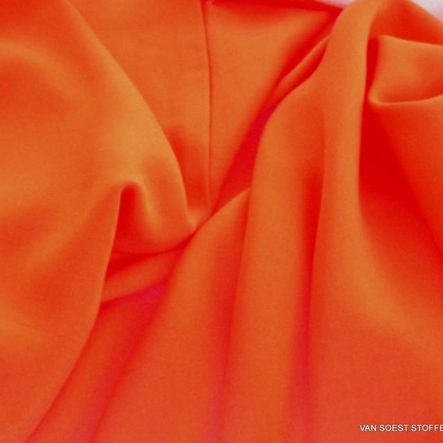 Orange farbiges 100% Viskose soft Poplin | Ansicht: Orange farbiges 100% Viskose soft Poplin