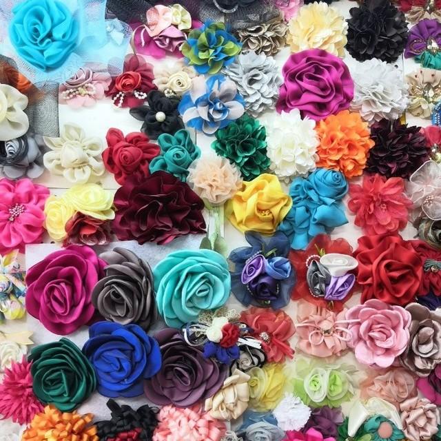 Organza 3-Lagen Blume in Bleu | Ansicht: Blumen Kollektion auf Anfrage