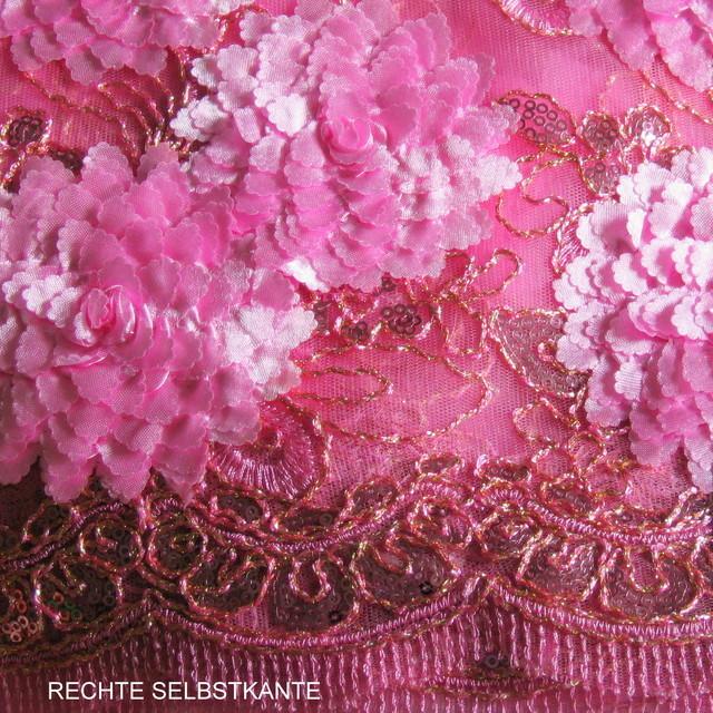 Pailletten Spitze in Pink