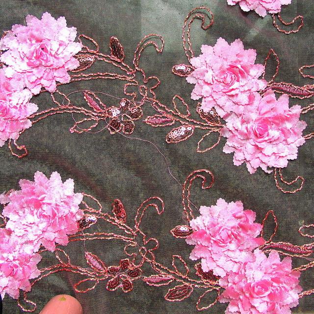 Pailletten Spitze in Pink   Ansicht: Pailletten Spitze in Pink