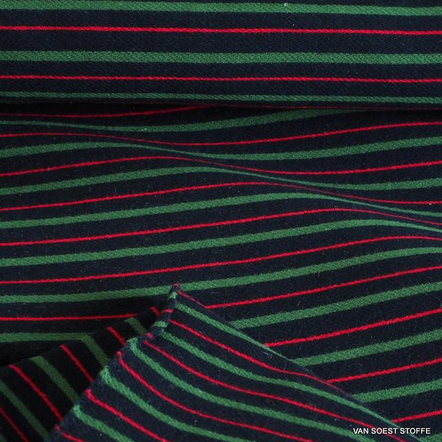 Regiment Streifen in Marine Grün Rot | Ansicht: Regiment Streifen in Marine Grün Rot