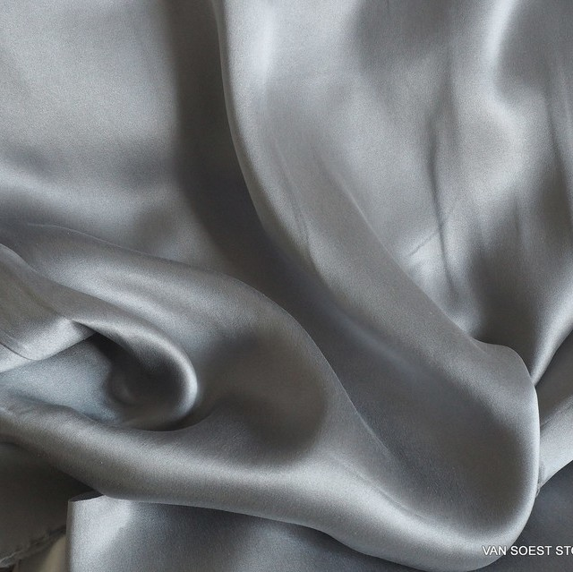 Pure silk in color silver