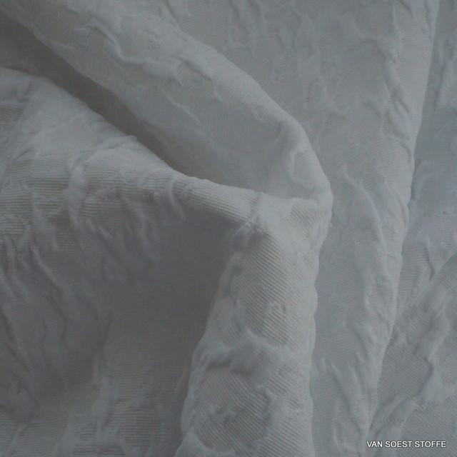 Reptil Stretch Jacquard in rein Weiß | Ansicht: Reptil Stretch Jacquard in rein Weiß