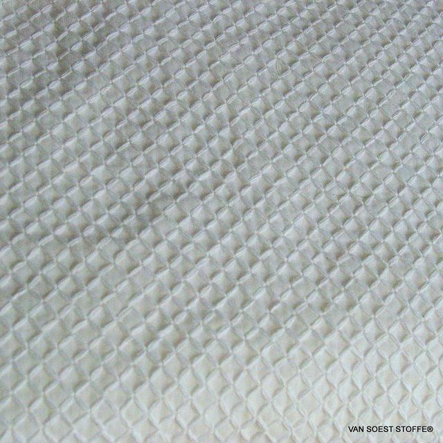 Romben Baumwoll Stickerei in Weiß   Ansicht: Romben Baumwoll Stickerei in Weiß