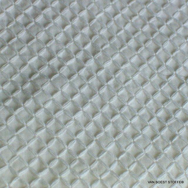 Romben Baumwoll Stickerei in Weiß