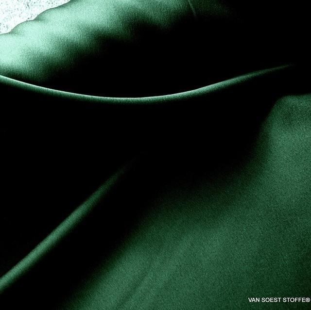 Satin mit Stretchanteil super leicht und weich fliessend in Smaragdgrün   Ansicht: Satin mit Stretchanteil super leicht und weich fliessend in Smaragdgrün