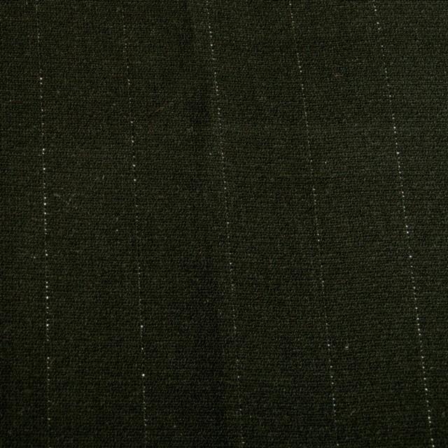 Schwarze Glanzfaser Micronadelstreifen | Ansicht: Schwarze Glanzfaser Micronadelstreifen