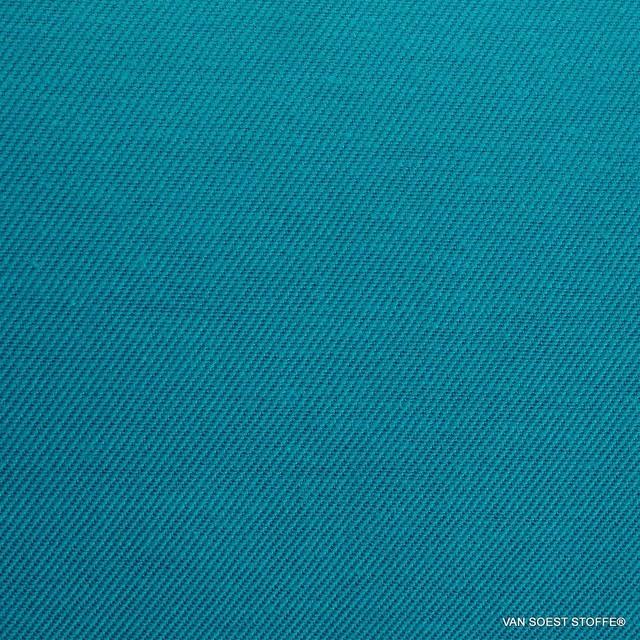 Schwere Stretch Köper in Tencel™ Mischung in Mykonos Blue