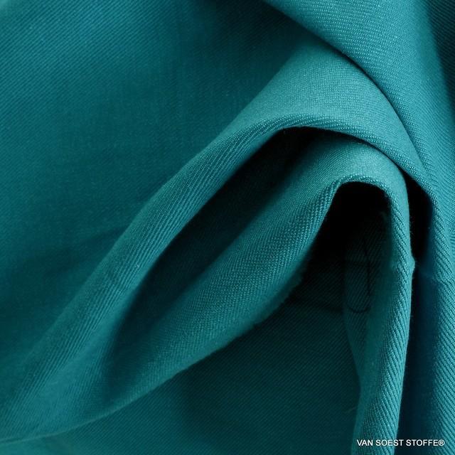 Schwere Stretch Köper in Tencel™ Mischung in Mykonos Blue | Ansicht: Schwere Stretch Köper in Tencel™ Mischung in Mykonos Blue