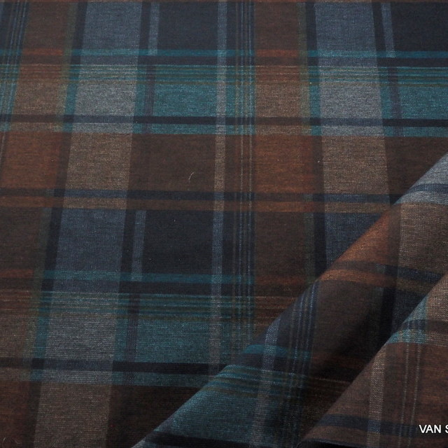 Schwerer Stretch Feinjersey in Traum Karo | Ansicht: Schwerer Strech Feinjersey in Traum Karo
