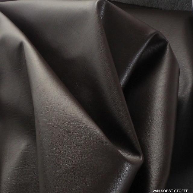 Schweres Lederimitat in Marrone = Braun | Ansicht: Schweres Lederimitat in Marrone = Braun