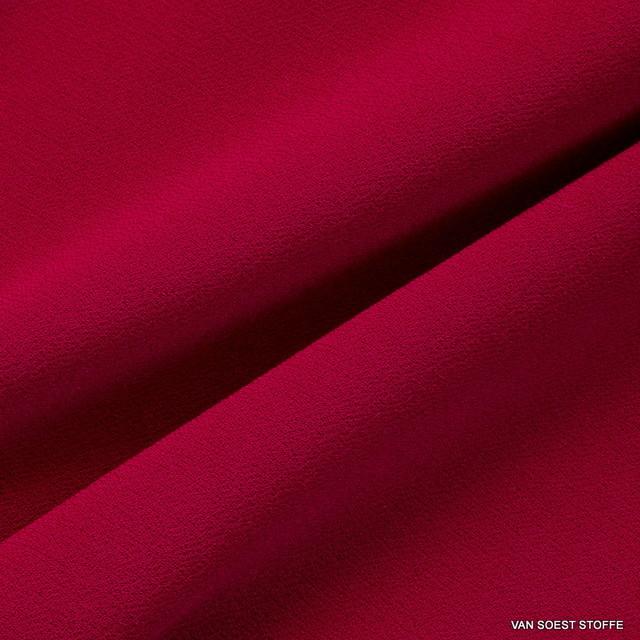 Softer feiner Stretch Krepp Jersey in Burgund Rot | Ansicht: Softer feiner Stretch Krepp Jersey in Burgund Rot