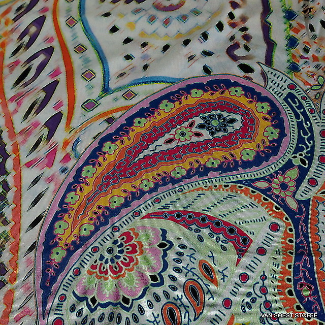 Sommer Paisley Stretch Jersey Print