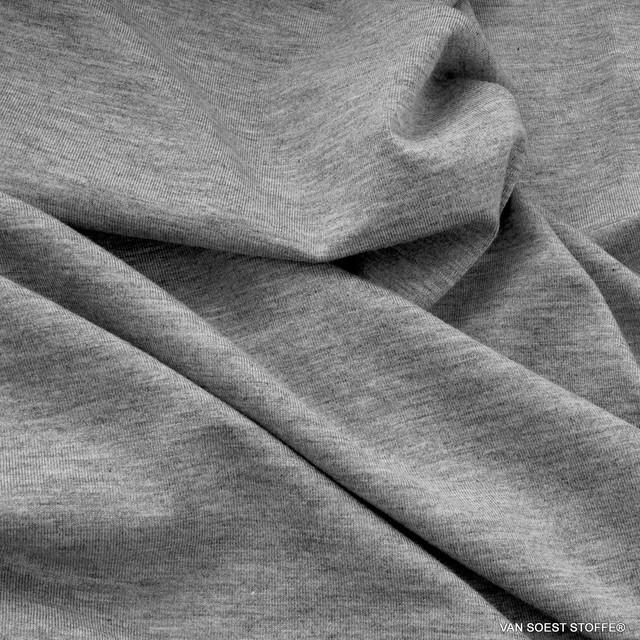 Sportbekleidung Yoga Wellness Modal High Stretch Jersey 170 cm 210gr/m²   Ansicht: Modal High Stretch Jersey in Melange Grey - Sportwear Underwear Yoga Wellness