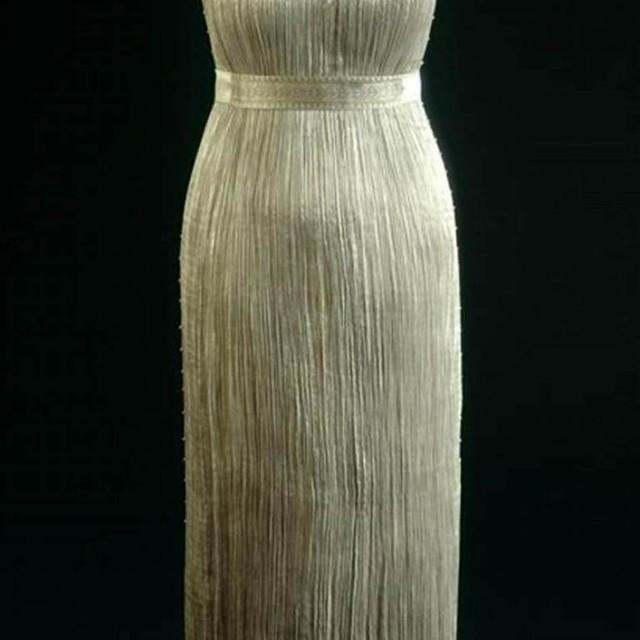 Stretch Falten Plissé in Silber | Ansicht: Stretch Falten Plissé in Silber