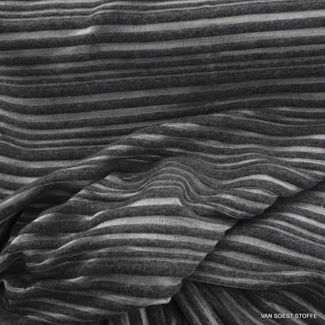 Stretch Glanz Rib Streifen in Silber - Grau | Ansicht: Stretch Glanz Rib Streifen in Silber - Grau