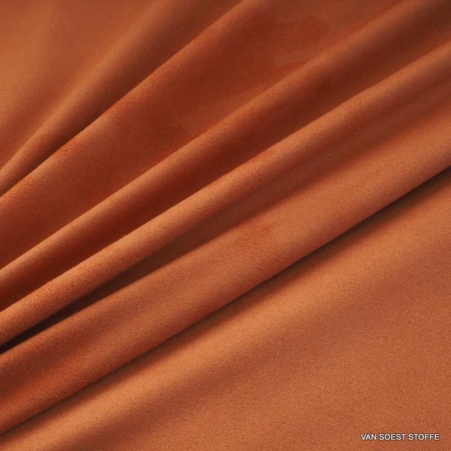 Stretch Lederimitat Cashmira in Orange