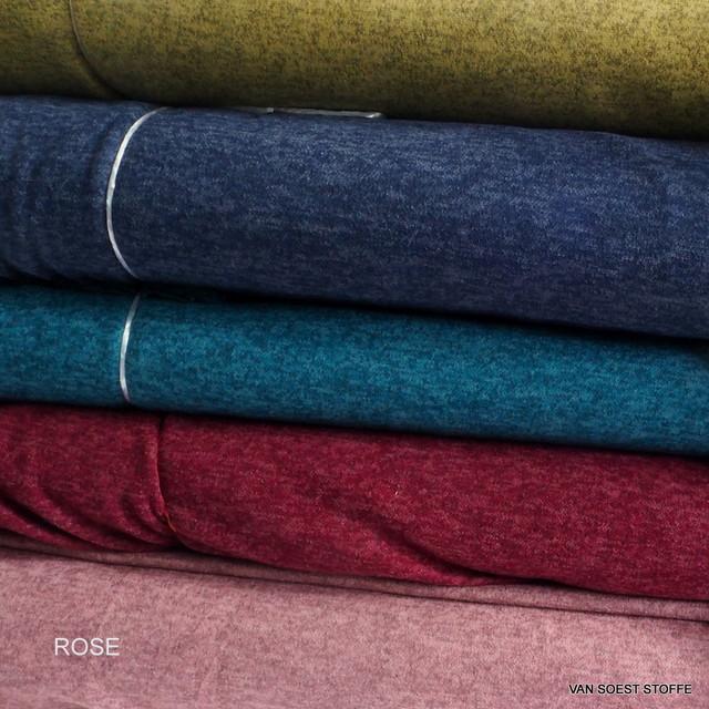 Stretch Melange Piqué Strick in Rose + 4 weitere Farben
