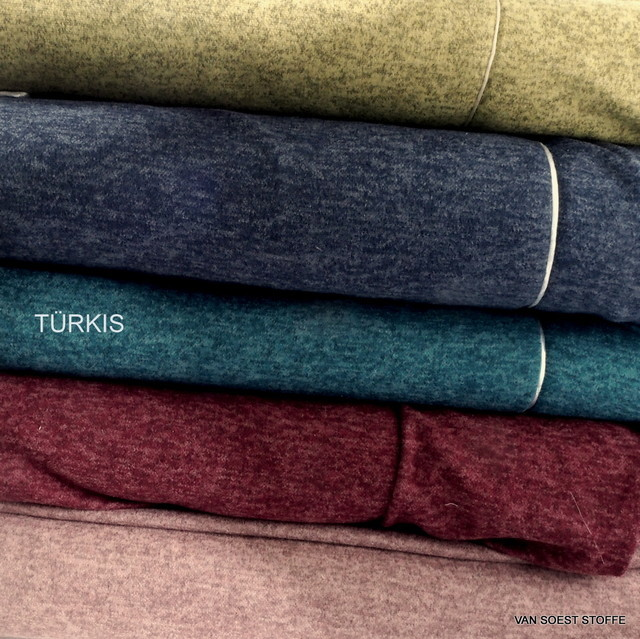 Stretch two-tone piqué knit in turqoise + 4 more colours