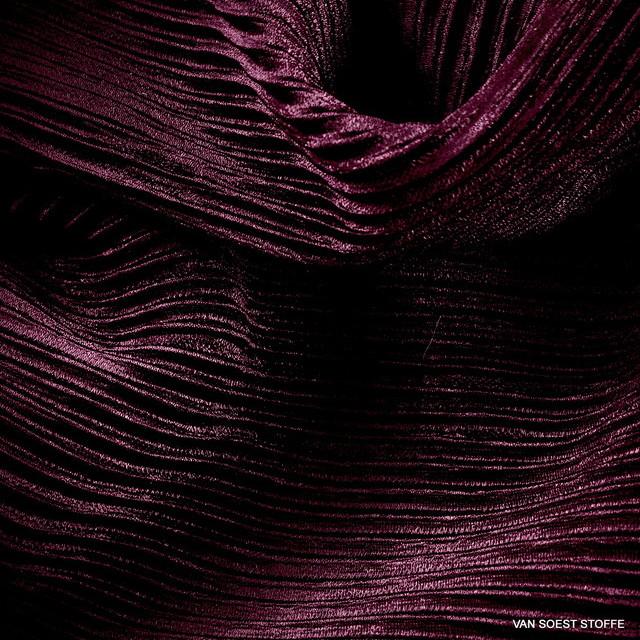 Stretch Plissee in dunkel Burgund | Ansicht: Stretch Plissee in dunkel Burgund