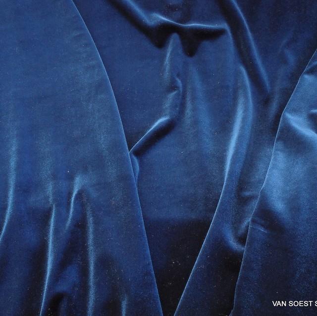Stretch Samt in Royal Blau | Ansicht: Stretch Samt in Royal Blau