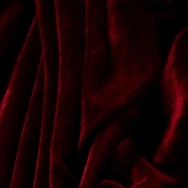 Stretch Samt in dunkel Burgund | Ansicht: Stretch Samt in dunkel Burgund